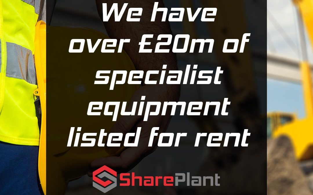 You can rent out any type of equipment on Shareplant.