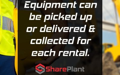 Equipment can be picked up or delivered and collected.