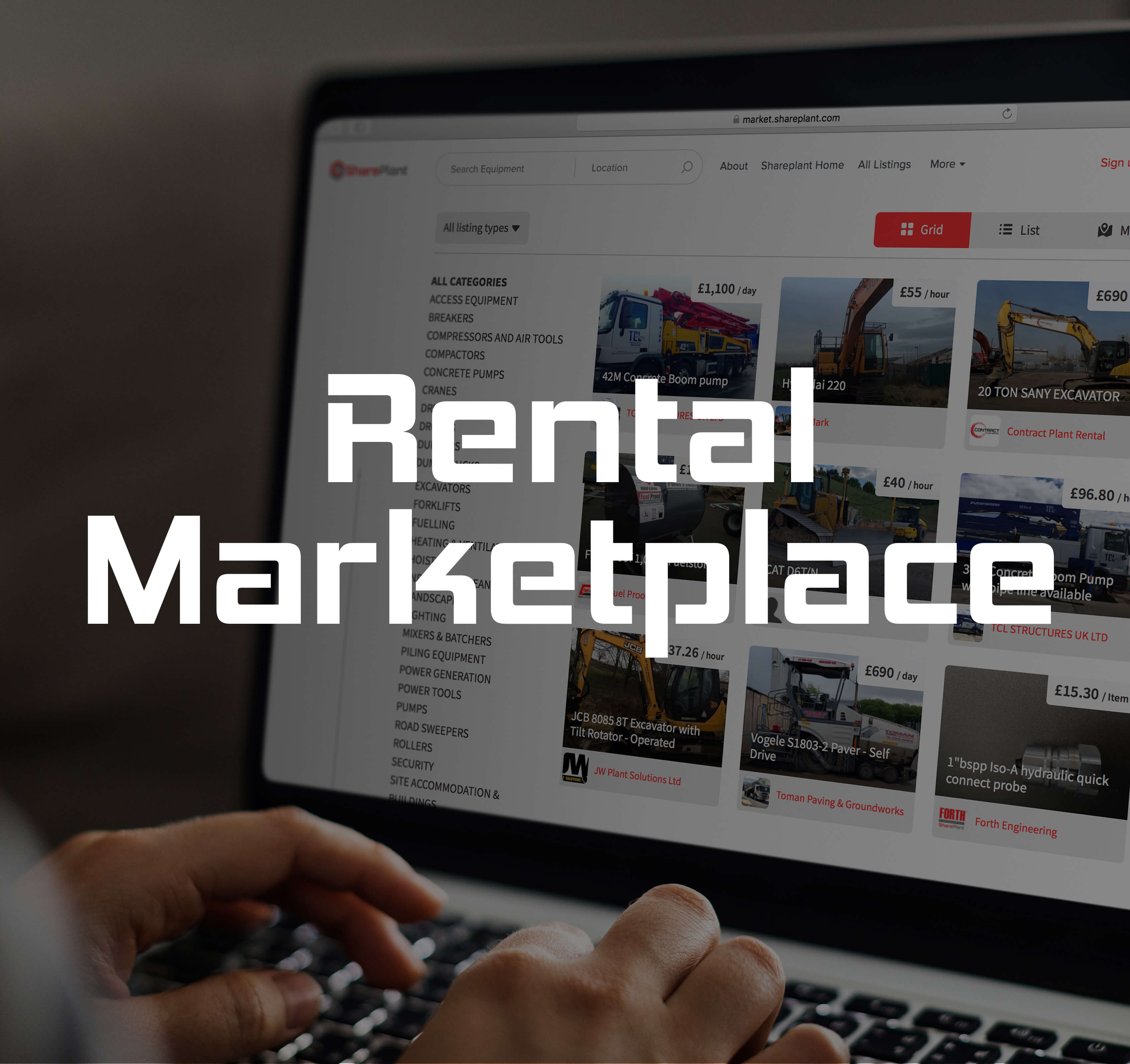 Rental Marketplace service - Homepage