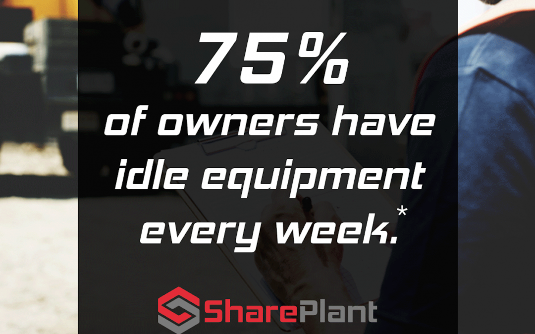 On average, 75% of owners have idle equipment every week.