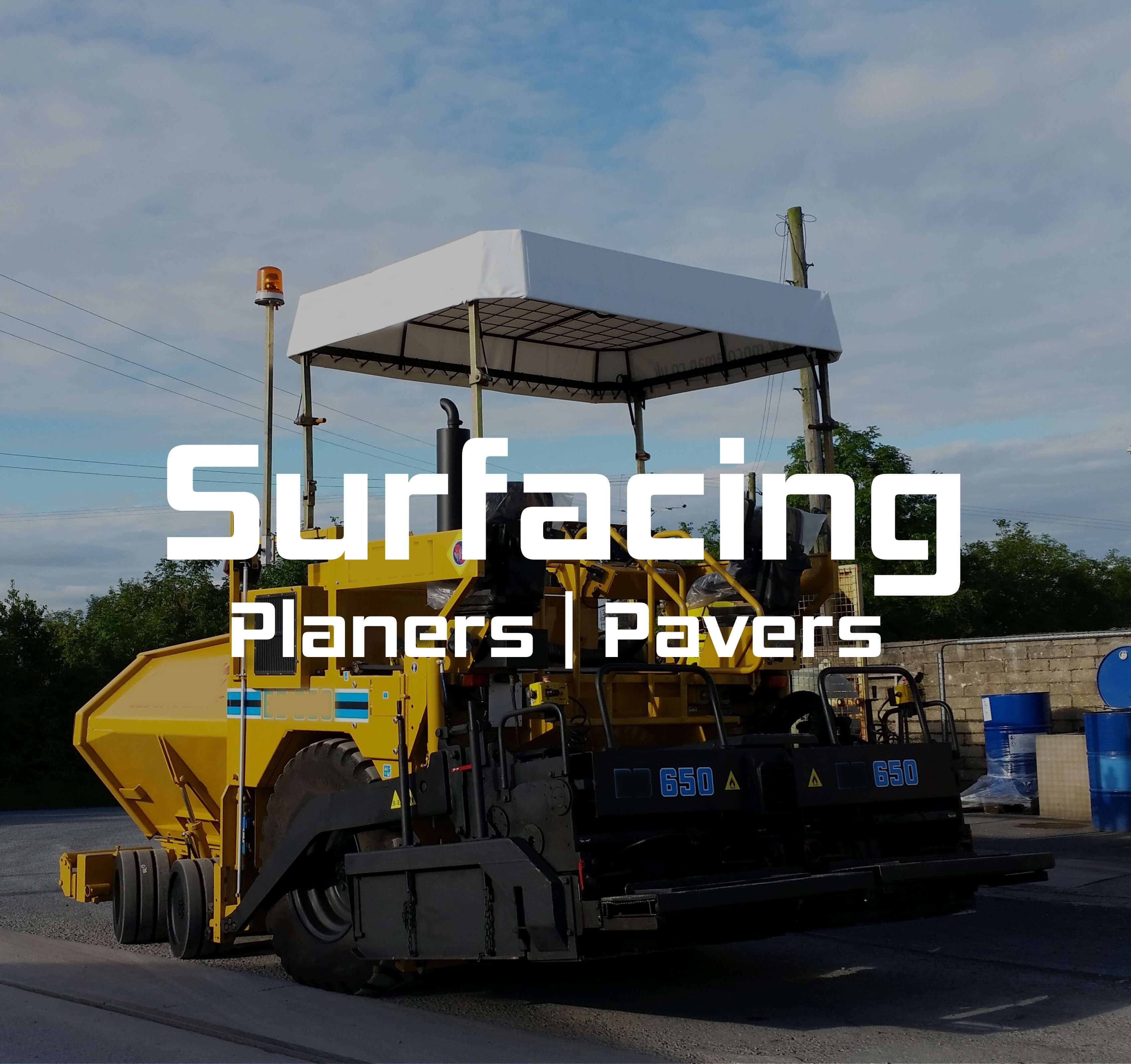Surfacing equipment marketplace - Homepage